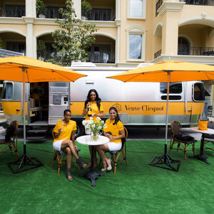 Vueve Clicquot, Airstream, Travel Trailer